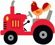 View Design: chicken riding on a tractor