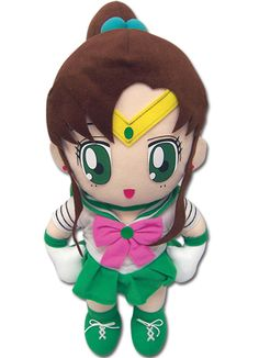 Sailor Jupiter Plushie http://www.moonkitty.net/reviews-buy-sailor-moon-plushies-toys.php #SailorMoon