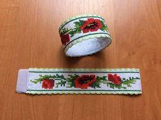 Baby Bracelet, Flower Bracelet, Wedding Bracelet, Embroidery Bracelets, Hand Embroidery, Bead Loom Patterns, Crochet Patterns, Handmade Bracelets, Handmade Jewelry