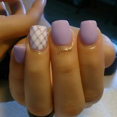 Matte lavender nails