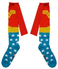 SUPER CUTE WONDER WOMAN RUFFLE SOCKS