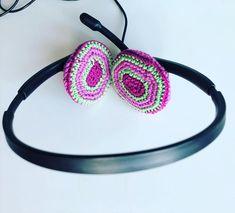"""RullaKoo, Riitta Kahelin on Instagram: """"#mending #headsetcushion #headset #crocheted #savedfromlandfill #mendingmatters #mendmay2020 #mendmay #visiblemending #repairingiscaring…"""" Visible Mending, Headset, Crochet Earrings, Instagram, Jewelry, Headphones, Headpieces, Hockey Helmet, Jewels"""