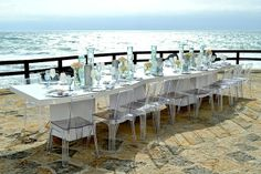 Arriba Cascais, wedding by the sea is the most beautiful and modern wedding venue by the sea! For more information, please email us at: info@lisbonweddingplanner.com Modern Wedding Venue, Plan Your Wedding, Wedding Venues, Portugal, Most Beautiful, Dining Table, Sea, Furniture, Home Decor