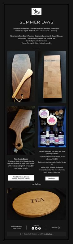 Avon River Trading Post - What's New Summer 2018 Trading Post, Charcuterie Board, Sea Foam, Summer Days, Avon, Tea Lights, Boards, Soap, Carving