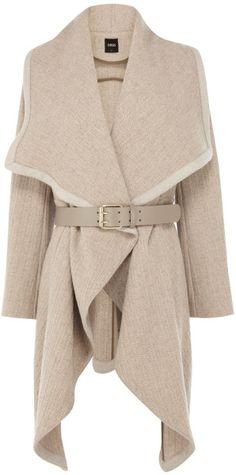 Love this: Mini Texture Drape Coat @Lyst