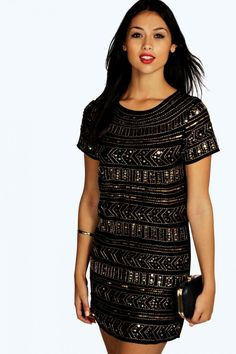 Sequin black party mini new year's eve dress 4ufashion.eu