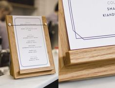 For customer resources, use a Menu Holder, Patricia Coffee