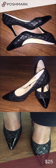 "Adrienne Vittadini Jantine quilted pumps Adrienne Vittadini Jantine quilted and leather pumps. 3"" heel Adrienne Vittadini Shoes Heels"