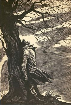 This engraving is actually from an edition of Wuthering Heights, but I think it works well for Rochester