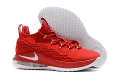 b58dc40af09b2 Cheapest Nike LeBron 15 Low University Red White Mens Basketball Shoes For  Sale