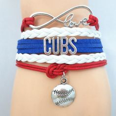 Infinity Love Chicago Cubs Baseball - Show off your teams colors! Cutest Love Chicago Cubs Bracelet on the Planet! Don't miss our Special Sales Event. Many teams available. www.DilyDalee.co
