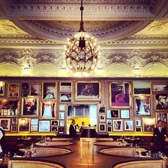 For a special occasion, head to Jason Atherton's Berners Tavern. Excellent British haute cuisine in super grand, but cool, surroundings.
