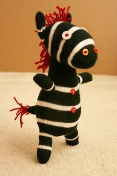 Must make this sock zebra!