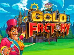 Игровой автомат Gold Factory на деньги.  Огромное количество золота в монетах и слитках ожидает гемблера на игровом автомате Gold Factory. Слегка сумасшедший изобретатель и его верный юный помощник помогут отыскать сокровища на земле, в воде и даже в воздухе, используя для
