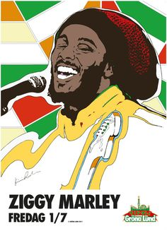 Ziggy Marley - poster by Kristian Russell