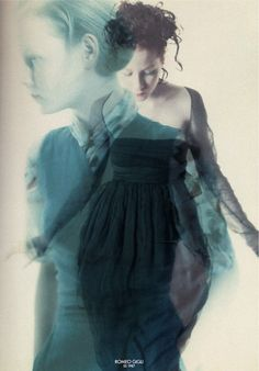 Alison Cohn photographed by Paolo Roversi - Romeo Gigli Ad Campaign: Spring/Summer 1987 Paolo Roversi, Multiple Exposure, Double Exposure, Art Photography, Fashion Photography, Editorial Photography, Inspiring Photography, Glamour Photography, Lifestyle Photography