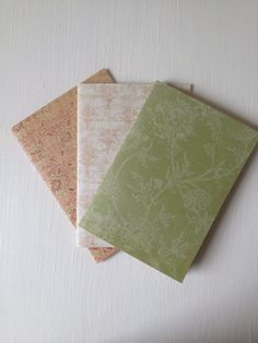Set of 3 Handmade Notebooks www.etsy.com/uk/shop/RosebudsMakery