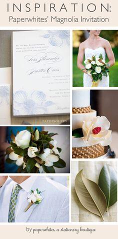 Magnolia wedding invitation but in coral