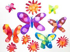 Gorgeous Watercolor Butterflies with the Rubbing Alcohol Technique Watercolor Projects, Spring Theme, Butterfly Watercolor, Process Art, Rubbing Alcohol, Butterfly Wings, Diy Art, Cool Kids, Art For Kids