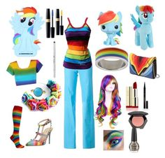 MLP Fashion - Rainbow Dash by Meg McD by michelle-durham-odo on Polyvore featuring polyvore, fashion, style, STOULS, Valentino, Elena Ghisellini, Tamara Comolli, My Little Pony, H&M, Elizabeth Arden and Urban Decay