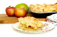 Apple and cheese pie in autumn.