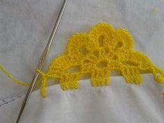 Crochet Edging Patterns, Crochet Lace Edging, Crochet Borders, Crochet Doilies, Tunisian Crochet, Filet Crochet, Crochet Stitches, Knit Crochet, Diy Crafts Love