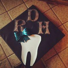 Dental hygiene graduation cap