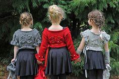 Ravelry: Butterfly Ballerina Cardigans pattern by Lorraine Hearn