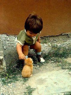 Он знает, что значит быть маленьким и беззащитным.