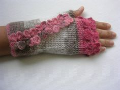 Do I want these or do I just want these !?!?!?!?!  Multicolor  Fingerless Mittens by yoncasshop on Etsy, $29.00