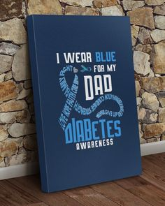 I wear blue for my dad Diabetes awareness - J Navy #FathersDaySale #fathersdaybook #fathersdaybbq fathers day gifts diy, fathers day gifts ideas, fathers day gifts from kids for grandpa, dried orange slices, yule decorations, scandinavian christmas 1st Fathers Day Gifts, Easy Fathers Day Craft, Homemade Fathers Day Gifts, Diy Father's Day Gifts, Fathers Day Sale, Fathers Day Quotes, Father's Day Diy, Fathers Day Shirts, Gifts For Dad