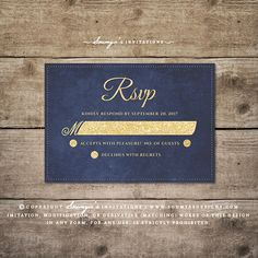 Rustic Chic Wedding Invitation RSVP by Soumya's Invitations