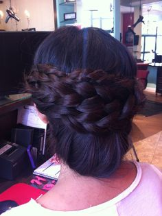 Braided Updo  #braids #updo #hair #weddinghair