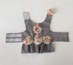 Toy Small Dog Harness Vest Shabby Chic by BloomingtailsDogDuds