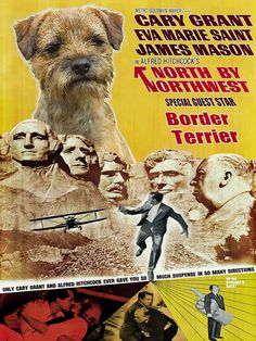 Border Terrier Vintage Movie Style Poster Canvas by NobilityDogs, $57.50