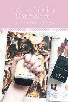 An honest review of the Marc Jacobs Shameless Foundation.  beauty  makeup   marcjacobs 6e424e3b5bc9