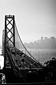 San Fracisco Bay Bridge B&W