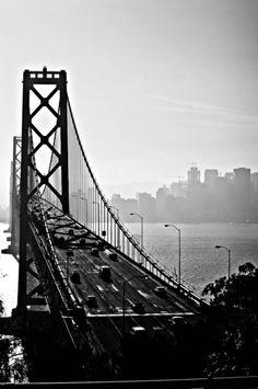 San Fracisco Bay Bridge B&W