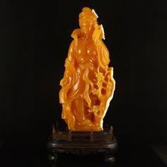 Indonesia Jin Tian Huang Statue - Beautiful Girl 印度尼西亞 田黃石 侍女 擺件