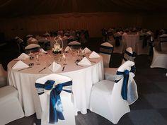 Wedding Venue, Marquee Venue, Ceremony Venue, Shipley, West Yorkshire, elegant Wedding, white, Navy, Bird Cage , Centre Pieces,