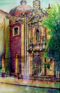 Moleskine art by argetancourt- Iglesia de la Profesa en la Ciudad de México