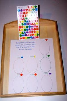 Easter Shape Preschool Printable and Math Preschool Lesson Plan