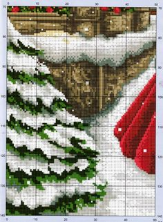 Little Girl in Red [Pattern / Chart] [Christmas - Cross Stitch] Cross Stitch Christmas Stockings, Xmas Cross Stitch, Cross Stitch Charts, Cross Stitch Designs, Cross Stitching, Cross Stitch Embroidery, Cross Stitch Patterns, Christmas Scenes, Christmas Cross