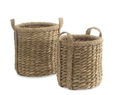 Higbee Round Baskets | Williams-Sonoma Toy Storage in Family/Living Room