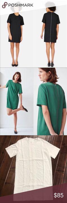 72d2db68c0e5 NWOT Everlane Japanese GoWeave ZIP Tee Dress The Back-Zip Tee dress is a  super