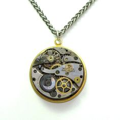 Steampunk Unisex Necklace by Mystic Pieces #steampunk #jewelry #mysticpieces
