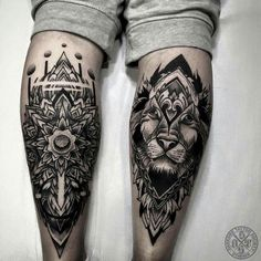 Leg Tattoos Lion