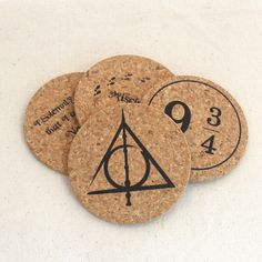 Harry Potter Themed Cork Coaster Set of 4                                                                                                                                                                                 More