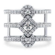 Sterling Silver CZ Open Bar Wedding Ring #R947