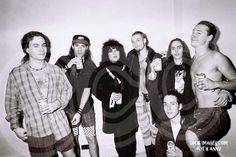 From left: Mike Starr, Sean Kinney, Ann Wilson, Layne Staley, Mike McCready, Jerry Cantrell and Stone Gossard